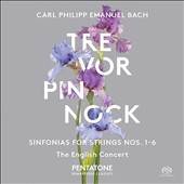 Carl Philipp Emanuel Bach: Sinfonias for Strings, Nos. 1-6 / The English Concert, Trevor Pinnock