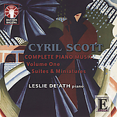 Scott: Complete Piano Music Vol 1 / De'Ath, Scott