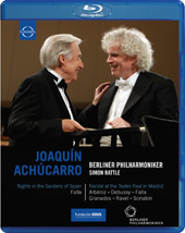 Recital at Teatro Real & Nights In The Gardens of Spain / Achucarro, Rattle [Blu-Ray]