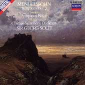 Mendelssohn: Symphonies no 3 & 4 / Solti, Chicago SO