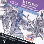 Martinu: Violin Concertos, Rhapsody / Suk, Neumann, Czech PO