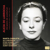 Alicia de Larrocha (1923-2009): Songs and chamber compositions / Marta Zabaleta, piano; Ala Voronkova, violin; Peter Schmidt, cello; Marta Matheu, soprano; Albert Guinovart, piano