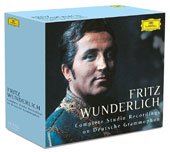 Fritz Wunderlich: Complete Studio Recordings on Deutsche Grammophon / Fritz Wunderlich, tenor; various artists [32 CDs]