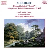 Schubert: Trout Quintet, Adagio & Rondo / Jando, Kodaly Qt