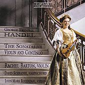 Handel: Sonatas for Violin and Continuo / Barton, et al