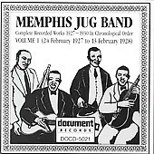 Memphis Jug Band: Complete Recorded Works, Vol. 1 (1927-1928)