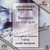 Brahms: S&eacute;r&eacute;nades Op 11 & 16 / Kurt Masur, et al