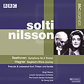 Beethoven: Symphony no 3;  Wagner: Preludes / Solti, Nilsson, et al