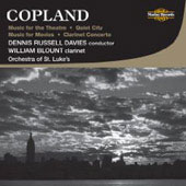 Copland: Music for the Theatre, Quiet City, Music for Movies, Clarinet Concerto / Davies, Blount, et al