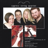 Debussy: String Quartet in G minor, Op. 10; Suk: Barcarolle; Ballade; Cotton: String Quartet No. 7
