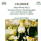 Chabrier: Piano Works Vol 2 / Georges Rabol