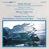 Milhaud: Concerto for Marimba & Vibraphone, etc;  Radanovics