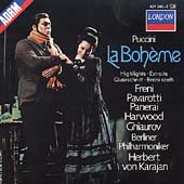 Puccini: La Boheme - Highlights / Karajan, Pavarotti, Freni