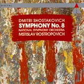 Shostakovich: Symphony no 8 / Rostropovich, National SO