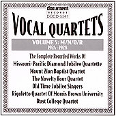 Various Artists: Vocal Quartets, Vol. 5: M/N/O/R