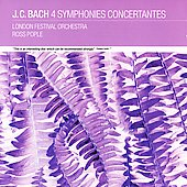 J.C. Bach: Sinfonies Concertantes / Pople, et al