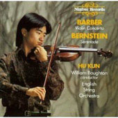 Barber: Violin Concerto;  Bernstein: Serenade / Hu Kun