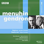 Beethoven: Triple Concerto Op 56;  Brahms: Double Concerto Op 102 / Kertesz, Menuhin, Gendron