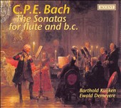 C.P.E. Bach: The Sonatas for flute and b.c.