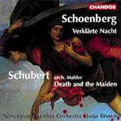 Schoenberg: Verklärte Nacht;  Schubert / Brown, Norwegian CO
