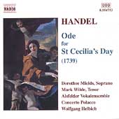 Handel: Ode for St. Cecilia's Day / Helbich, Mields, et al