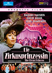 Emerich Kálmán (1882-1953): The Circus Princess / Ingeborg Hallstein; Rudolf Schock; Peter Frankenfeld [DVD Video]