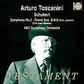 Schubert: Symphony no 2, etc / Toscanini, NBC SO