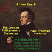 Mendelssohn: Piano Concertos, Capriccio brillante / Kuerti, Freeman, et al