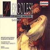 Pergolesi: Stabat Mater, Orfeo / Borst, Klepper, et al