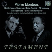 Beethoven: Leonore Ov. 3; Strauss: Till Eulenspiegel; Saint-Saens: Violin Concerto no 3; Stravinsky: Petrushka / Pierre Monteux