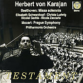 Beethoven: Missa solemnis;  Mozart / Herbert von Karajan