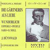 Mozart: Die Gartnerin Aus Liebe / Dunnwald, Wundelich, et al