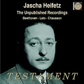 Jascha Heifetz - The Unpublished Recordings