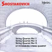 Shostakovich: String Quartets no 11, 13 & 15 /St. Petersburg