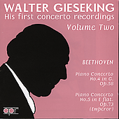 Walter Gieseking - His first concerto recordings Vol 2
