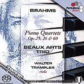 Brahms: Piano Quartets Op 25, 26, 60 /Beaux Arts Trio, et al
