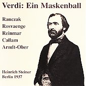 Verdi: Ein Maskenball / Berlin Radio Choir and Orchestra