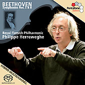 Beethoven: Symphonies no 5 and 8 / Herreweghe, et al