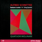 Alfred Schnittke: Chamber Music, Vol. 1 - String Quartets Nos. 1-4 / Molinari Qrt