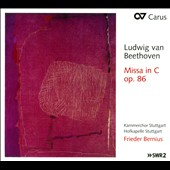 Beethoven: Missa in C, Op. 86 / Maria Keohane, Marjot Oitzinger, Thomas Hobbs, Sebastian Noack