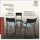 Beethoven, Brahms: Trios for Clarinet, Cello & Piano / Jon Manasse, clarinet; Jon Nakamatsu, piano; Clive Greensmith, cello