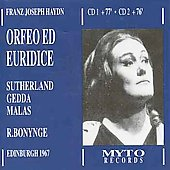 Haydn: Orfeo ed Euridice / Bonynge, Sutherland, Gedda, Malas