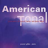 American Tonal - Piano Music of Barber and Hagen / Golan
