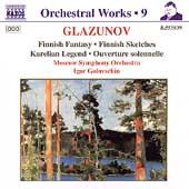Orchestral Works Vol 9 - Glazunov: Finnish Fantasy, etc