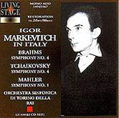 Igor Markevitch in Italy - Brahms, Tchaikovsky, Mahler