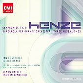 20th Century Classics - Henze: Symphony no 7 & 9, etc / Rattle, Drake, Bostridge, et al