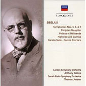 Sibelius: Symphonies Nos. 5, 6 & 7; Tone Poems / London SO, Danish RSO, Collins, Jensen