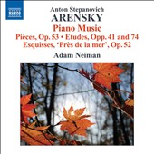 Anton Arensky: Piano Music