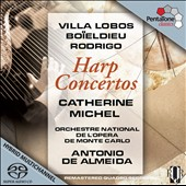 Villa Lobos, Bo&iuml;eldieu, Rodrigo: Harp Concertos / Catherine Michel, harp