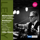 Mendelssohn: Midsummer Nights Dream; Beethoven: Symphony No. 8 / Klemperer